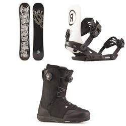 Ride Wildlife Snowboard + Revolt Snowboard Bindings + Lasso Boa Snowboard Boots 2020