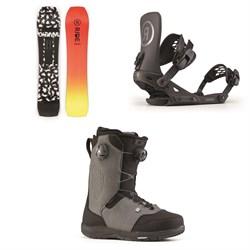 Ride Warpig Snowboard + Revolt Snowboard Bindings + Ride Lasso Boa Snowboard Boots 2020