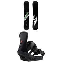 Lobster Park Snowboard + Burton Freestyle Snowboard Bindings