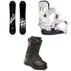 Lobster Park Snowboard ​+ Rome Arsenal Snowboard Bindings ​+ thirtytwo Prion Snowboard Boots