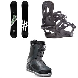 Lobster Park Snowboard ​+ Rome Arsenal Snowboard Bindings ​+ thirtytwo STW Boa Snowboard Boots