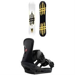 Lobster Jib Snowboard + Burton Freestyle Snowboard Bindings