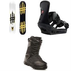 Lobster Jib Snowboard + Burton Freestyle Snowboard Bindings + thirtytwo Prion Snowboard Boots