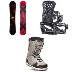Rossignol Circuit Snowboard + Flux PR Snowboard Bindings + thirtytwo Exit Snowboard Boots 2019