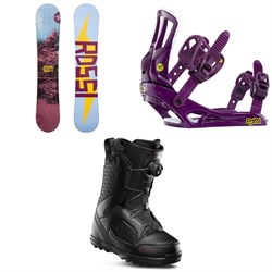 Rossignol Myth Snowboard + Myth Snowboard Bindings + thirtytwo STW Boa Snowboard Boots - Women's 2020