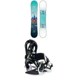 GNU Asym Velvet C2 Snowboard + GNU B-Real Snowboard Bindings - Women's 2020