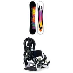 GNU B-Nice Asym BTX Snowboard + GNU B-Real Snowboard Bindings - Women's 2020