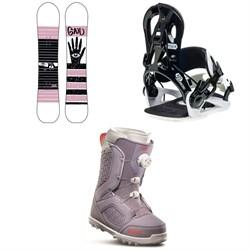 GNU Gloss C2 Snowboard + GNU B-Real Snowboard Bindings + thirtytwo STW Boa Snowboard Boots - Women's 2020