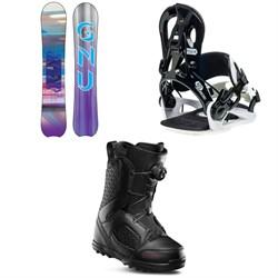 GNU Chromatic BTX Snowboard + GNU B-Real Snowboard Bindings + thirtytwo STW Boa Snowboard Boots - Women's 2020
