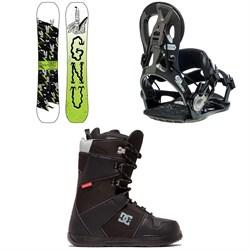 GNU Money C2E Snowboard + GNU Cheeter Snowboard Bindings + DC Phase Snowboard Boots 2020
