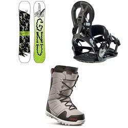 GNU Money C2E Snowboard + GNU Cheeter Snowboard Bindings + thirtytwo Exit Snowboard Boots 2020