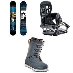 Rome Reverb Rocker SE Snowboard + 390 Boss Snowboard Bindings + thirtytwo Zephyr Snowboard Boots