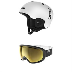 POC Auric Cut Communication Helmet ​+ POC Fovea Clarity Jeremy Jones Edition Goggles