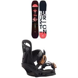 Burton Feelgood Flying V Snowboard + Scribe EST Snowboard Bindings - Women's 2020