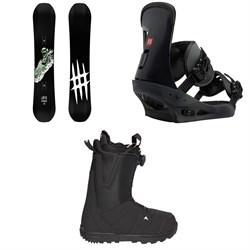 Lobster Park Snowboard  + Burton Freestyle Snowboard Bindings  + Moto Boa R Snowboard Boots 2018