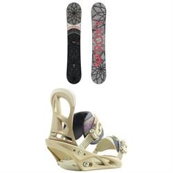 Roxy Ally Banana Snowboard + Burton Scribe Snowboard Bindings - Women's