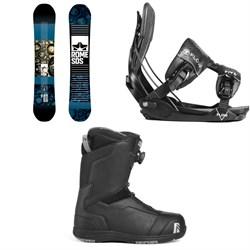 Rome Reverb Rocker SE Snowboard + Flow Five Fusion Snowboard Bindings + Nidecker Aero Boa Coiler Snowboard Boots