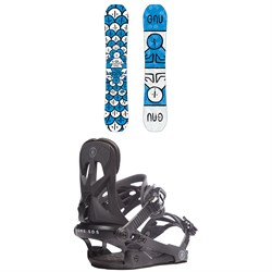 GNU FB Head Space Asym C3 Snowboard ​+ Rome Arsenal Snowboard Bindings