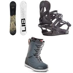 Lib Tech Skate Banana BTX Snowboard + Rome Arsenal Snowboard Bindings + thirtytwo Zephyr Snowboard Boots