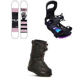 GNU Gloss C2 Snowboard + Bent Metal Metta Snowboard Bindings + thirtytwo Shifty Boa Snowboard Boots - Women's 2020