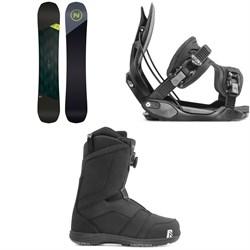 Nidecker Merc Snowboard + Flow Alpha Snowboard Bindings + Nidecker Ranger Boa Snowboard Boots 2020