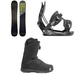 Nidecker Score Snowboard + Flow Alpha Snowboard Bindings + Nidecker Ranger Boa Snowboard Boots 2020
