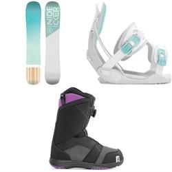 Nidecker Elle Snowboard + Flow Haylo Snowboard Bindings + Nidecker Maya Boa Snowboard Boots - Women's 2020