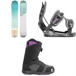 Nidecker Elle Snowboard + Flow Haylo Snowboard Bindings + Nidecker Maya Boa Snowboard Boots - Women's