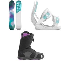 Nidecker Angel Snowboard + Flow Haylo Snowboard Bindings + Nidecker Maya Boa Snowboard Boots - Women's 2020
