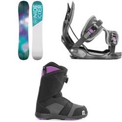 Black Nidecker Maya Boa Womens Snowboard Boot Size 6.5