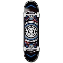 Element Hatched Red Blue 7.7 Skateboard Complete