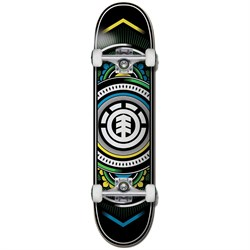 Element Hatched Yellow Green 8.0 Skateboard Complete