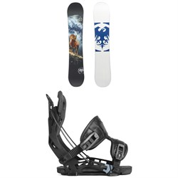 Never Summer West Snowboard ​+ Flow NX2 Fusion Snowboard Bindings