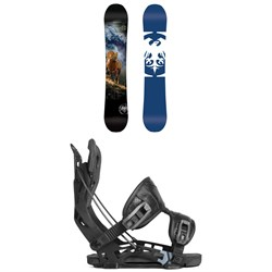 Never Summer West X Snowboard ​+ Flow NX2 Fusion Snowboard Bindings