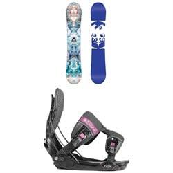 Never Summer Infinity Snowboard - Women's + Flow Minx Fusion Snowboard Bindings - Women's