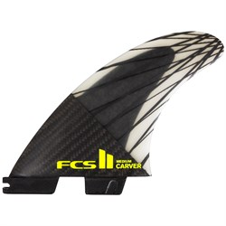 FCS II Carver PC Carbon Medium Tri Fin Set