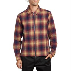 RVCA Subterranean Long-Sleeve Zip Flannel