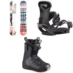Salomon Sleepwalker X Snowboard 2020 + Trigger X Snowboard Bindings 2020 + Launch Boa SJ Snowboard Boots 2019