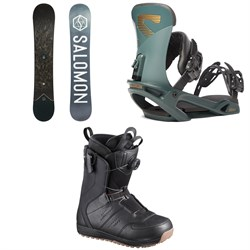 Salomon Sight X Snowboard 2020 ​+ Trigger X Snowboard Bindings ​+ Launch Boa SJ Snowboard Boots 2019