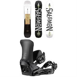 Salomon Assassin Snowboard ​+ District Snowboard Bindings