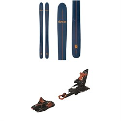 DPS Powderworks Wailer 100 RP Tour Skis 2020 ​+ Marker Kingpin 13 Alpine Touring Ski Bindings 2020