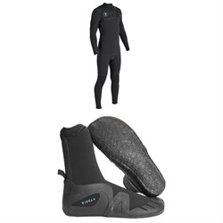 Vissla 7 Seas Power Seam 4​/3 Chest Zip Wetsuit ​+ Vissla 7 Seas 5mm Round Toe Wetsuit Boots