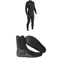 Vissla 7 Seas Power Seam 3​/2 Chest Zip Wetsuit ​+ Vissla 7 Seas 3mm Split Toe Wetsuit Boots