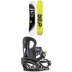 Slash Brainstorm Snowboard + Flux TT Snowboard Bindings