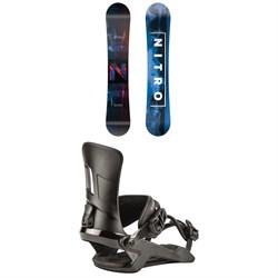 Nitro Prime Overlay Wide Snowboard + Rambler Snowboard Bindings