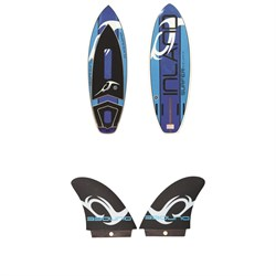 Inland Surfer Blue Lake V2 Wakesurf Board ​+ Dundee 4.5'' Surf Fins