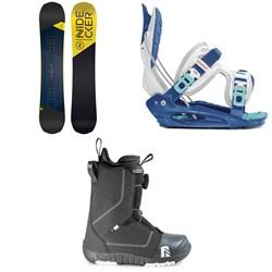 Nidecker Prosper Snowboard + Flow Micron Youth Snowboard Bindings + Nidecker Micron Boa Snowboard Boots - Kids' 2020