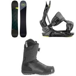 Nidecker Merc Snowboard + Flow Fenix Snowboard Bindings + Nidecker Aero Boa Coiler Snowboard Boots 2020