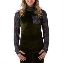 Rojo Outerwear Velvet Funnel Neck Base Layer Top - Women's