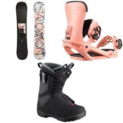 Salomon Wonder X Snowboard + Vendetta Snowboard Bindings + Pearl Snowboard Boots - Women's 2020